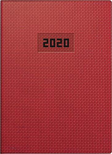 BRUNNEN 107963301 Wochen-/Buchkalender 2020, Modell 796 (2 Seiten = 1 Woche, A5, 14,8 x 20,5 cm, Blattgröße 14,8 x 20,8 cm, Struktur-Einband) rot
