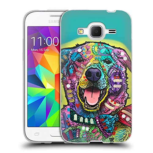 Head Case Designs Ufficiale Dean Russo Joker Cani 6 Cover in Morbido Gel Compatibile con Samsung Galaxy Core Prime