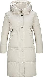 Women Long Hooded Down Jacket Thickened Winter Puffer Parka Coats Extra Seams Zipper Closure