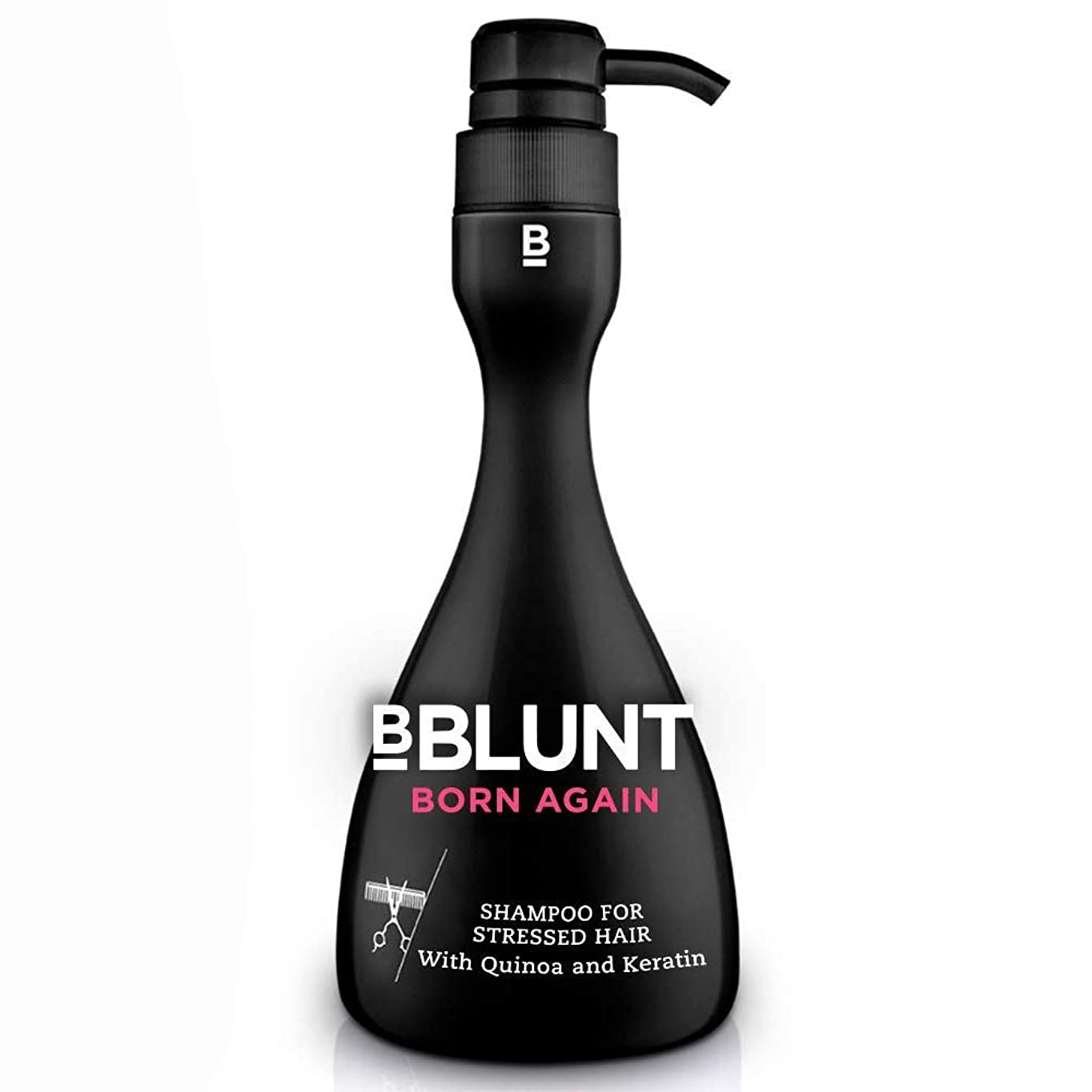公然と注釈を付けるバイナリBBLUNT Born Again Shampoo for Stressed Hair, 400ml (With Quinoa, Hydrolyzed Keratin & Provitamin B5)