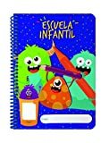 Agenda Infantil perpetua Roja - Día Pagina 232 Paginas - Tamaño A6 (Rojo)