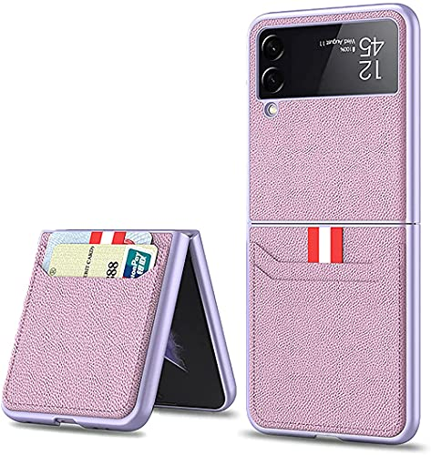 OADAA For Samsung Galaxy Z Flip 3 5G Case, Leather Lightweight Cover Full Protective Cases with Wallet Card