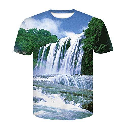 Heren 3D T-Shirt Korte Mouw Crew Neck Splendid Shanhe T-Shirt Man 3DT Shirt Korte mouw Ronde hals Digitale afdrukken Casual Korte mouw