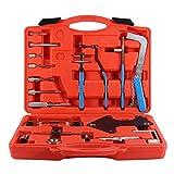 NMDD Kit d'outils de synchronisation, Acier Inoxydable au Carbone Kit d'outils de synchronisation Master Kit d'arbre à cames de Voiture Outils de réparation de synchronisation Boîtier Rouge
