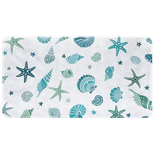 Alfombrillas de baño antideslizantes para niños, Animal marino Estrella de mar Alfombrilla de bañera para niños lavable a máquina para accesorios de baño con ventosas 39X69CM (C-estrella de mar)