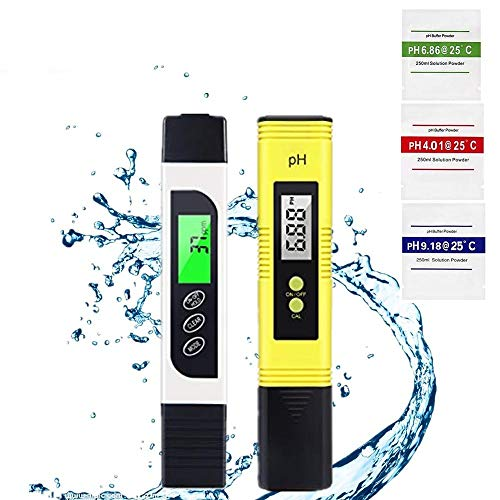 pH Messgerät, Digital pH TDS EC Temperatur,TDS & PH Meter Digitaler Wassertester LCD Display, Wasserqualität Tester für Trinkwasser/Schwimmbad/Aquarium/Pools