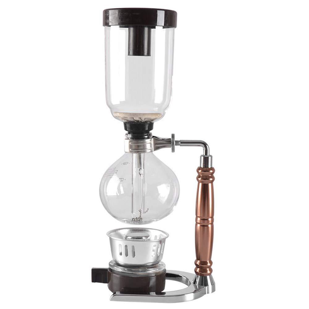 ACOMG Cafetera de Vidrio al vacío, Máquina de café Artesanal con ...