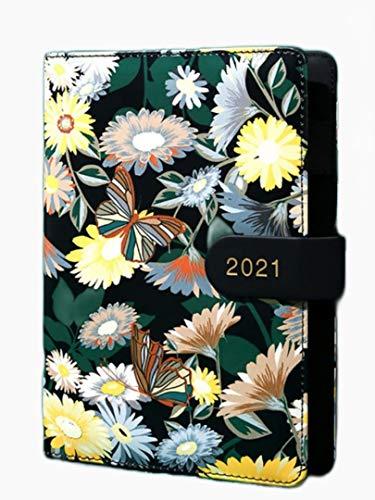 GZTCAP bullet journal 2021 Agenda Planificador Organizador B6 Diario Cuaderno Calendario Diario Cuadrícula Semanal Bloc De Notas Hebilla Cuaderno Oficina Escuela Plan Diario