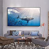 sonbrille Mar Animal Pescado Goldfish Dolphin Tiburón Póster Poster Fondos para la sala de estar Decoración de la sala de lienzos de Maison CUADROS Decoracion 20x30cm NoFramed
