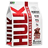Perfect Sports Hulk Clean Mass Gainer Brownie De Dulce De Azúcar De Chocolate 10 Lb 4540 g