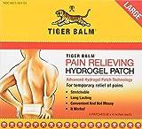 Bálsamo de tigre, parche para aliviar el dolor, grande, 4 parches (8 x 10 cm). Cada uno)