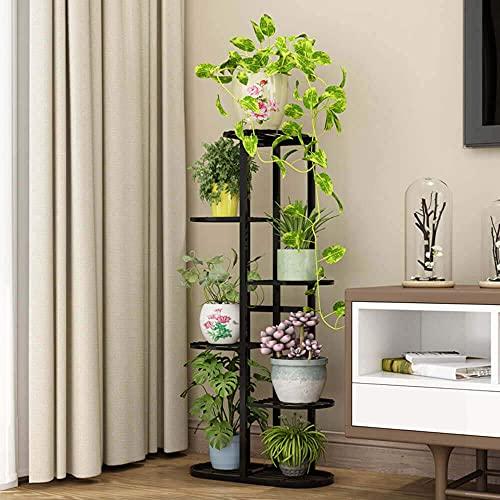 Metal 6 Tier 7 Potted Plant Stand Multiple Flower Pot Holder Shelves Planter...