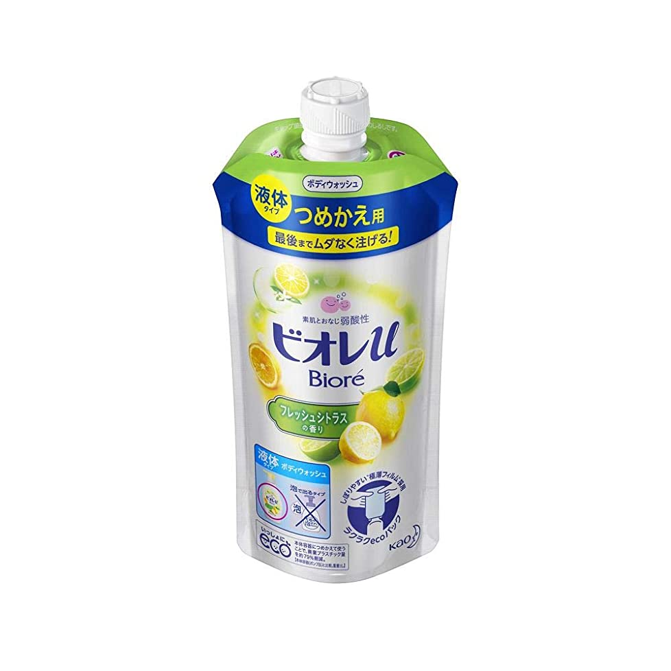 野望仮称の頭の上花王 ビオレu フレッシュシトラスの香りつめかえ用 340ML