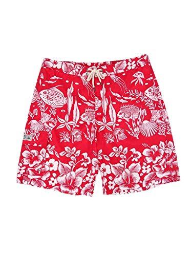 Ralph Lauren Polo Herren Kailua Badehose 21,6 cm Unterwasserkoralle - Rot - Small