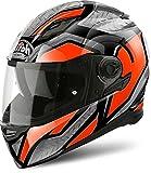 Casco Integrale Airoh Movement - Steel - Orange Gloss // White Gloss (XS, Orange Gloss)