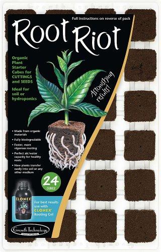 Growth Technology - Fertilizante Root Riot, Paquete de 24
