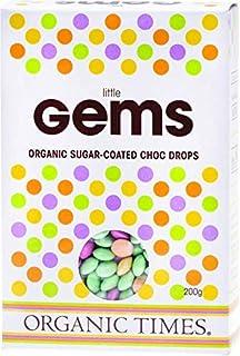 Organic Times Organic Little Gems Sugar Coated Chocolate Drops, 200 g