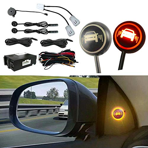 Elliot Jonah Car Blind Spot Monitoring System, Ultrasonic Blind Spot Detection System Sensor BSD Distance Assistant Car Lane Changing Warning Reversing Radar