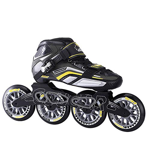 Best Deals! TTYY Speed-Skating-Shoes-Roller Four-Wheels Blading-Skates Professional Adult/Children B...