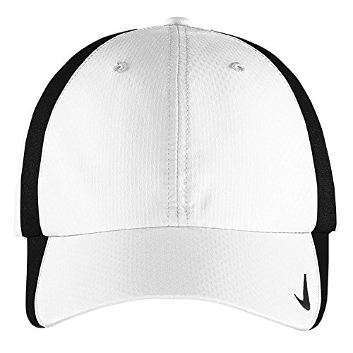 Nike Authentic Sphere Quick Dry Low Profile Swoosh Embroidered Adjustable Cap - White Black