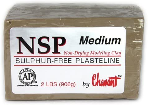 Chavant Clay - NSP Be super welcome Medium Tan 40l Sculpting Modeling and Recommended