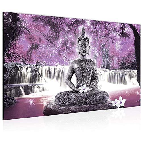 5D Pintura de Diamante DIY Kits Completo Taladro Gran Tamaño Diamond Painting Budismo Crystal Estrás Bordado Punto de Cruz Lienzo Artísticos Decoración de la Pared Square Ddrill-40x80cm