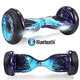 Windway Hoverboard 10'' Patinete Eléctrico Bluetooth Monopatín Scooter autobalanceado, Ruedas de Skate con luz LED, Motor Bluetooth de 700W para niños y Adultos (Cielo Azul)
