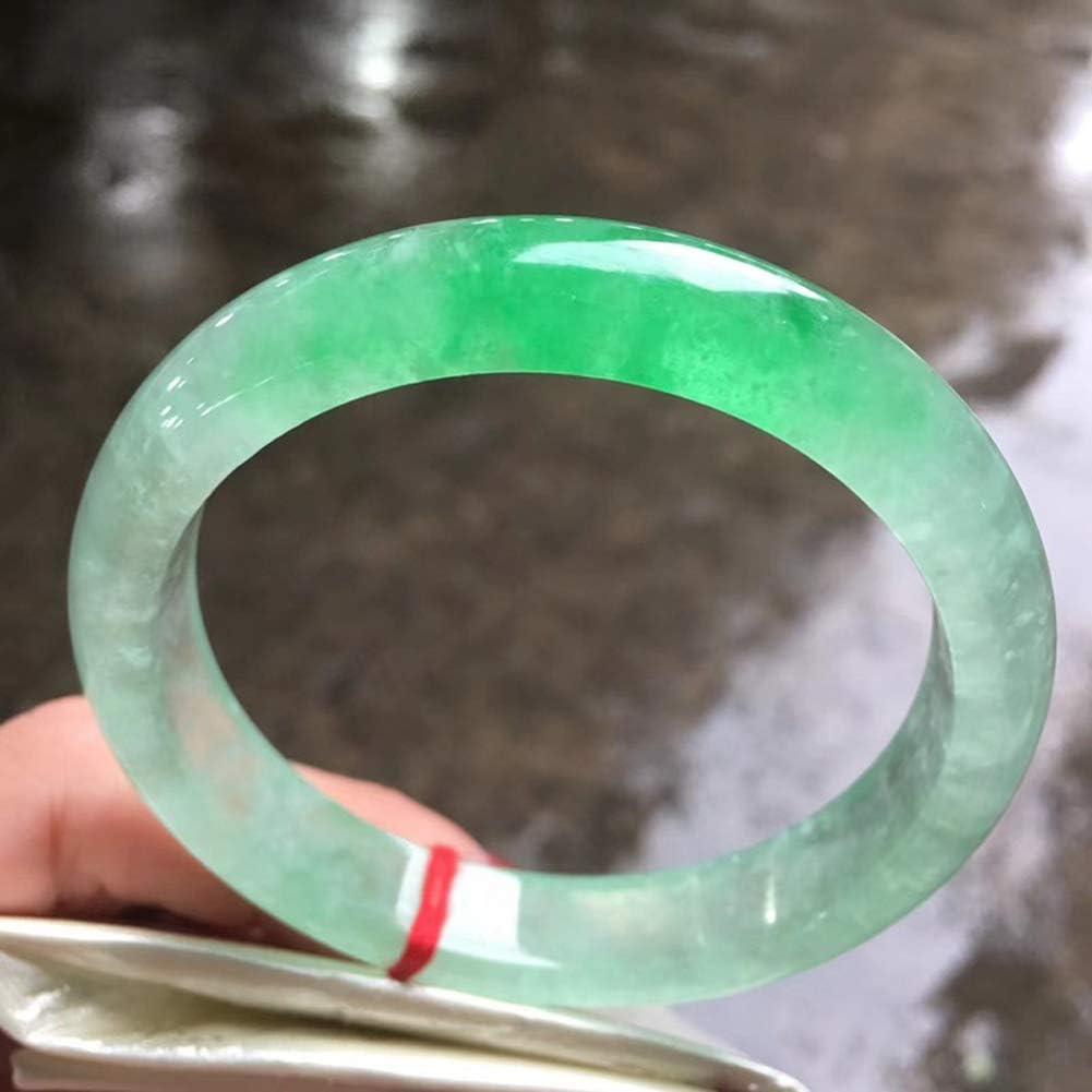 53-64mm Max 55% OFF Natural Emerald Jade Green Ice Bangle Fl Max 75% OFF Women's Genuine