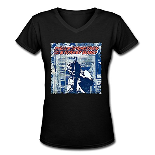 Bruce Springsteen y la E Street Band Tour 2016. png para mujer V cuello T Shirt Negro