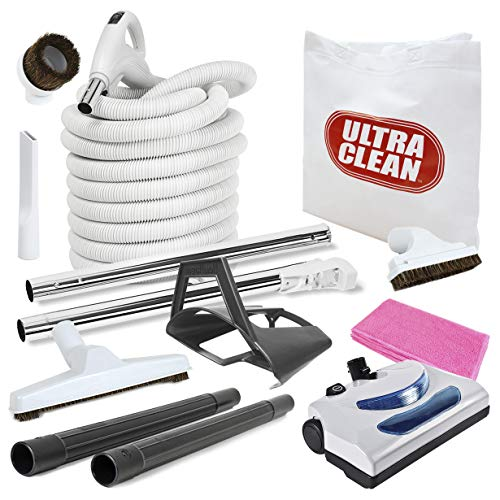 Ultra Clean Central Vacuum kit with Powerhead hose and tools...