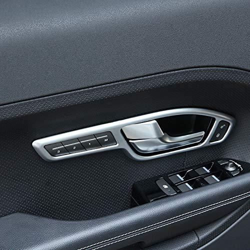 JIERS para Land Rover Range Rover Evoque Coupe 2016-2019, Accesorios de moldura de Marco de manija de Puerta Interior de Coche Plateado Mate
