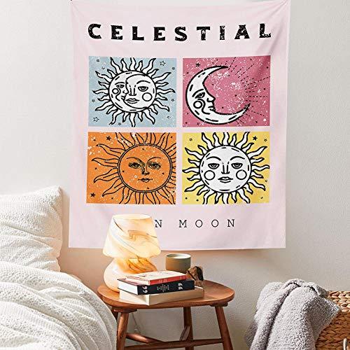 Tapiz De Tarot Tapiz De Sol Y Luna Tapiz De Cactus Del Desierto Tapiz De Adivinación Para Colgar En La Pared Sa-433