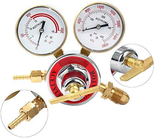 ZooTek Welding gas welder acetylene Regulator for torch cutting kits CGA 510