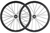 SunRise Bike 38/25mm Carbon Fixed Gear Bike Wheelset 700C Clincher Single Speed Wheel