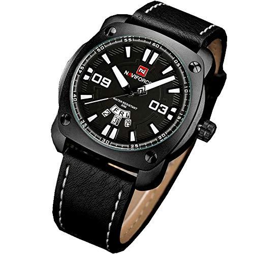 Relógio Masculino Social Analógico Naviforce 9096 Preto