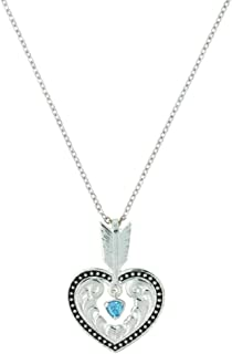 Montana Silversmiths Shot in The Heart with a Big Sky Arrow Necklace