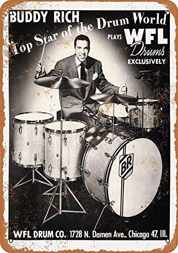 TINBG Buddy Rich Wfl Drums Retro Aluminum Metal Tin Sign Warning New Sign Plaque Poster Wall Vintage Art Sign Use Anywhere 20x30cm
