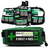 Práctico Kit de Primeros Auxilios Bolsa de 165 Piezas Kits de Supervivencia de Senderismo Rescate Aire Libre Coche médico de Escuela del Equipaje de Emergencia Ligeros,Empty Bag