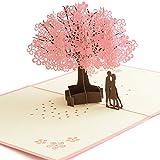 バースデーカード (桜の木) メッセージカード 【大切な人に感謝の手紙を!】 3D 立体カード 誕生日カード 手紙 【卒園式/卒業式/母の日/成人式お祝い/プロポーズ/結婚式/結婚記念日など幅広い用途に】 誕生日かーど 飛び出すメッセージカード 花の立体カード 母の日メッセージカード ポップアップカード レターセット 寄せ書き 成人式お祝い 結婚記念日 メッセージ 卒業式 卒園式 ミニメッセージカード 母の日 母の日ギフト 【JUBILEE】 (1枚セット)