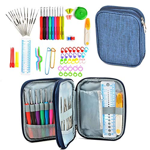 Best Price! Sewing Needles - 72Pcs Kit Aluminum Soft Handle with Bag Craft Weave Set Sewing Tool Yar...