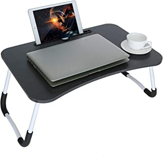 Laptop Desk,Laptop Bed Tray Table Large Foldable Laptop Notebook Stand Desk with Cup Holder Perfect for Eating Breakfast, Reading Book, Working,Watching Movie on Bed/Couch/Sofa
