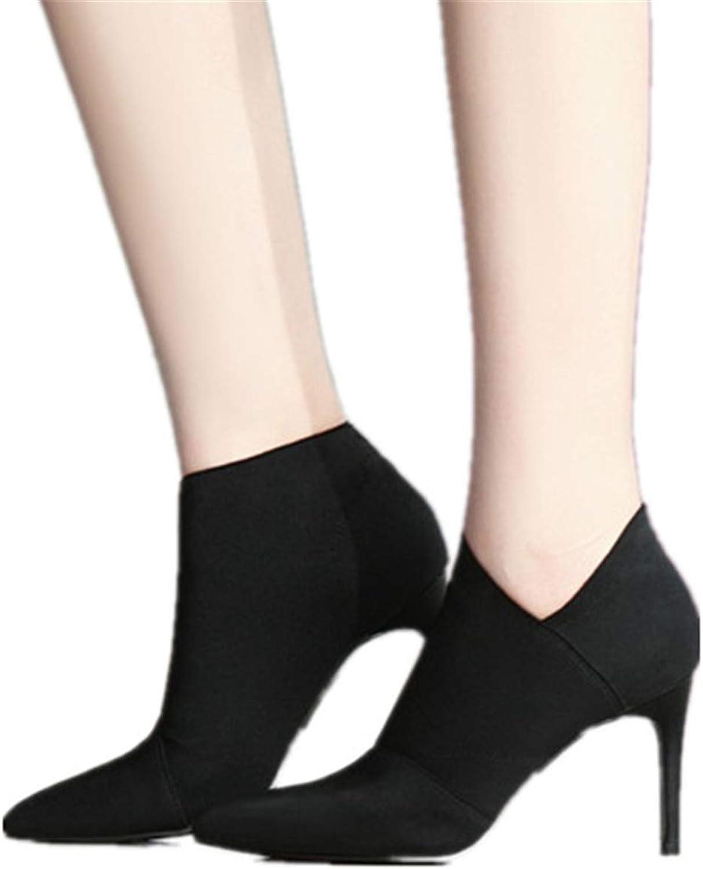 CHENSF Womens Bobbie Heel Ankle Booties