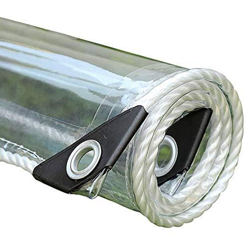 Lonas Impermeables Exterior, Vidrio Transparente Toldo Guardapolvo De Muebles De JardíN Resistencia Al Desgarro, con Ojales Y Toldos Y Lonas(0.8x1.5m/2.6x4.9ft)