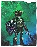 Coobal The Legend of Zelda - Manta de forro polar (127 x 101 cm)