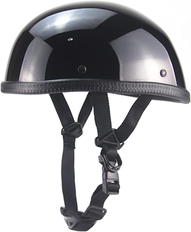 LTJLBHJ Motorcycle Half trend rank Helmet Open-Face NEW Beanie Retro Motorbike
