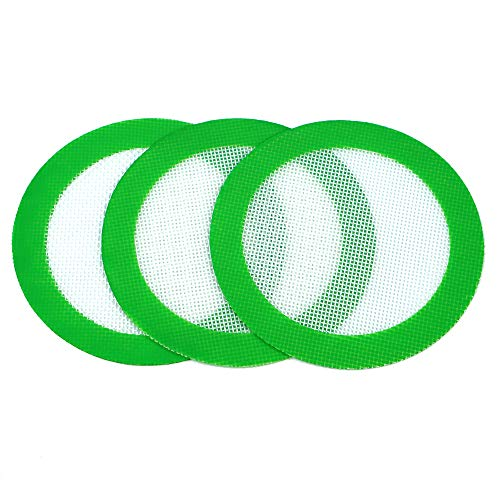 YHSWE 3 Non Stick Mat Pad/Silicone Rolling Baking Pastry Mat Small Round 5' Green