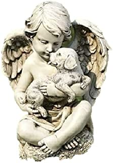 Roman, Inc. Cherub with Puppy Statue