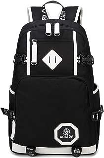 AGOWOO Mens Boys Heavy Duty Teens High School Backpack Bookbag Black