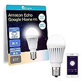 【+Style ORIGINAL】スマートLED電球 E17 (調光・調色) LED電球 40W 440lm スマート 調光 調色 E17 ハブ ブリッジ不要 日本メーカー製 Amazon Alexa/Google Home 対応