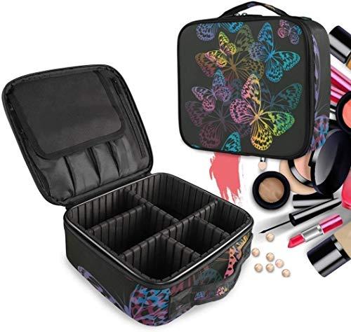 Cosmétique HZYDD Art Black Butterfly Make Up Bag Trousse de Toilette Zipper Sacs de Maquillage Organisateur Poche for Compartiment Femmes Filles Gratuit